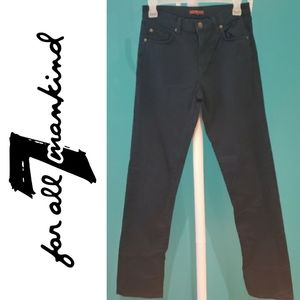 7 For All Mankind Black Cotton Skinny Pants